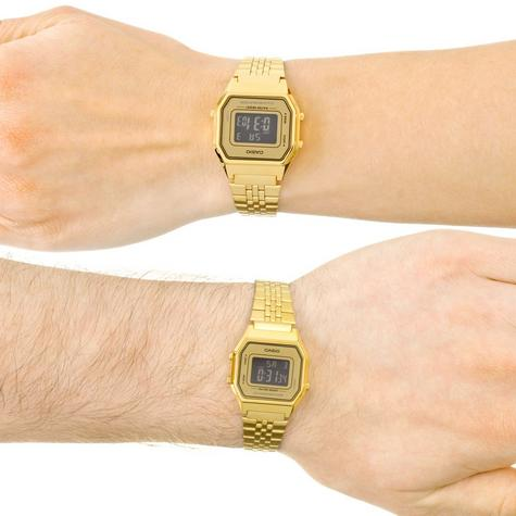 Casio LA-680WEGA-9BER Ladies Gold Plated Digital Watch / Gold Case / Black Dial / NEW /  Thumbnail 6