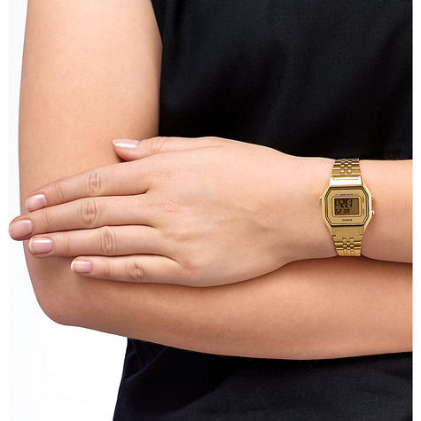 Casio LA-680WEGA-9BER Ladies Gold Plated Digital Watch / Gold Case / Black Dial / NEW /  Thumbnail 7