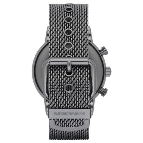 Emporio Armani Luigi Men's Watch?Chrono Dial ?Gunmetal Mesh Steel Strap?AR1979 Thumbnail 4