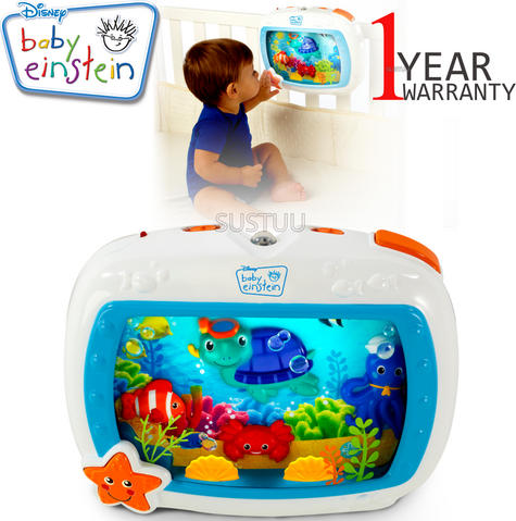 Baby Einstein Crib Sea Dream Soother | Baby/ Kid's Mobile Cot Toy | With Music+Light | +0 Months Thumbnail 1
