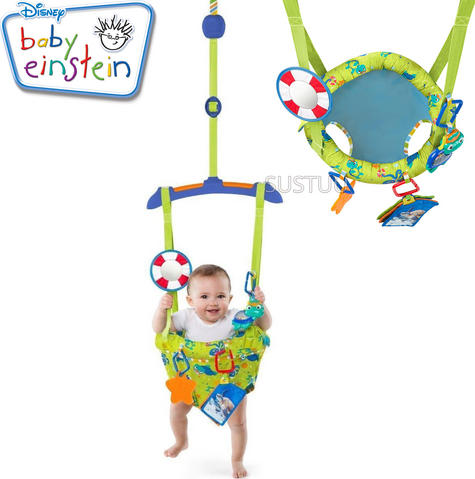 Baby Einstein Sea & Discover Adjustable Door Jumper/ Bouncer | With Mirror+Teether | +6 Months Thumbnail 1