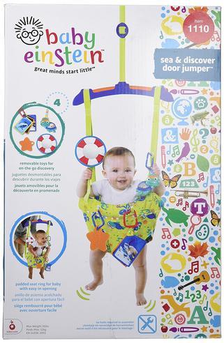 Baby Einstein Sea & Discover Adjustable Door Jumper/ Bouncer | With Mirror+Teether | +6 Months Thumbnail 5