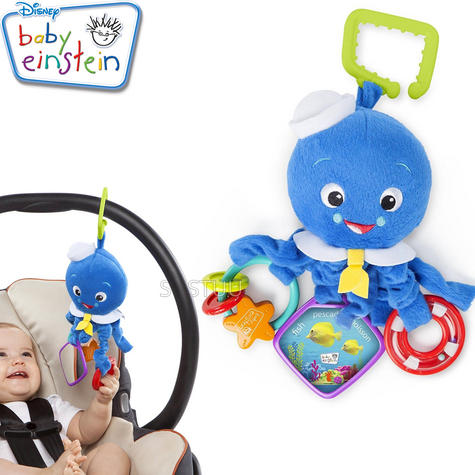 Baby Einstein Activity Arms Octopus | Clip On Pram/'Pushchair/Baby Carrier+Teether Thumbnail 1
