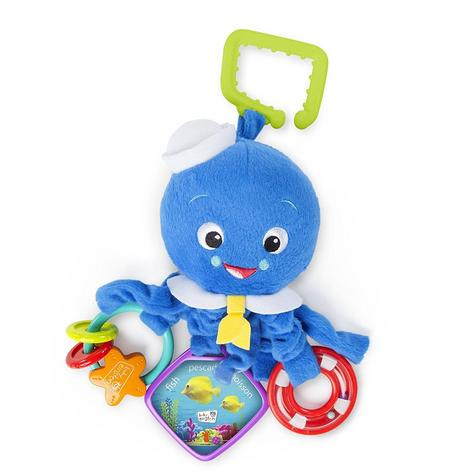 Baby Einstein Activity Arms Octopus | Clip On Pram/'Pushchair/Baby Carrier+Teether Thumbnail 2