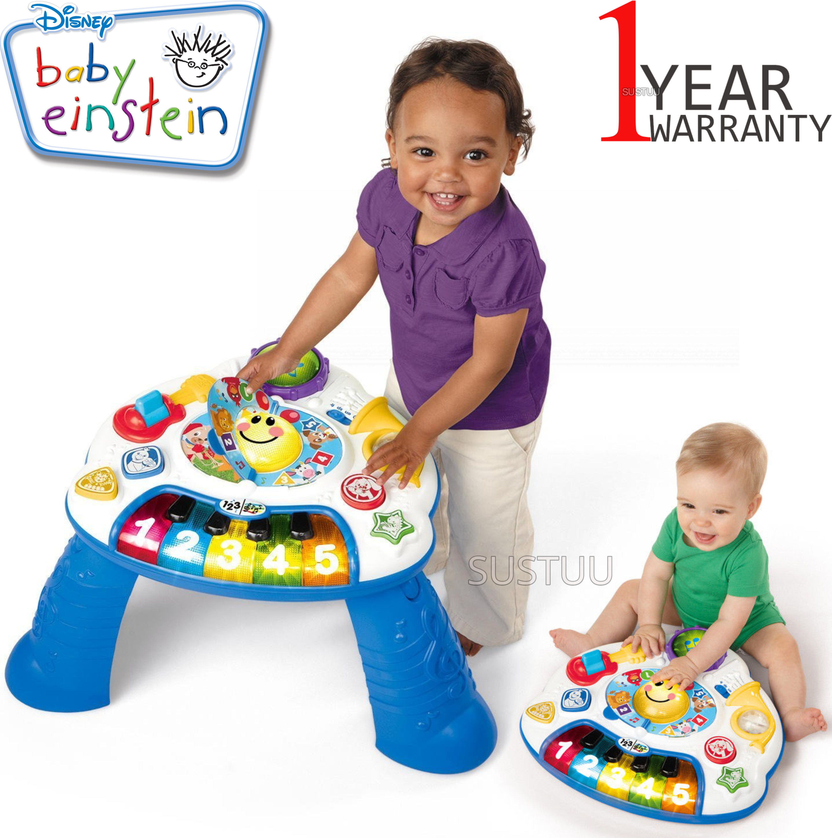 Baby Einstein Discover Music Activity Table | Learning/Fun Musical Toy With Light | +6 Months