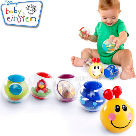 Baby Einstein Roller-Pillar Activity Balls | Kids Learning Toy With Mirror+Rattle Thumbnail 1