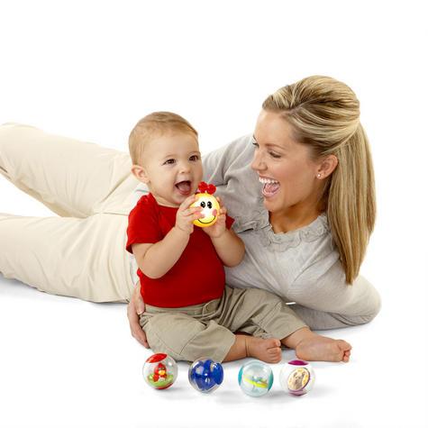 Baby Einstein Roller-Pillar Activity Balls   Kids Learning Toy With Mirror+Rattle Thumbnail 4