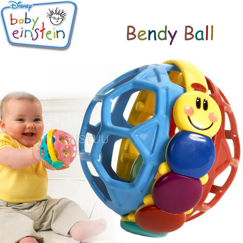 Baby Einstein Bendy Ball | Toddler/Kids Multicolour Fun Activity Toy | With Rattle Thumbnail 1