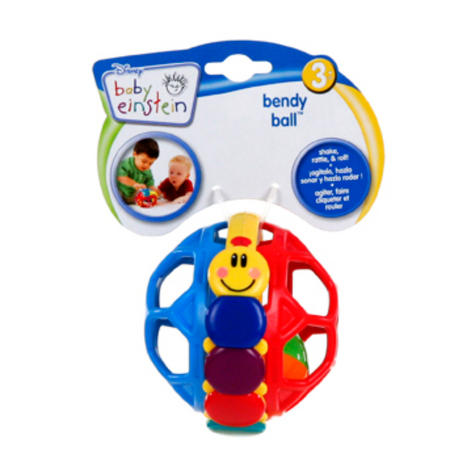 Baby Einstein Bendy Ball | Toddler/Kids Multicolour Fun Activity Toy | With Rattle Thumbnail 6