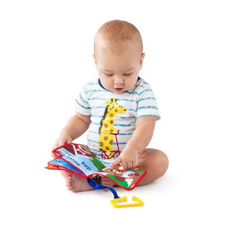 Baby Einstein Explore Book | Learning Activity/ Fun Soft Teething Toy | Clip on Pram Thumbnail 2