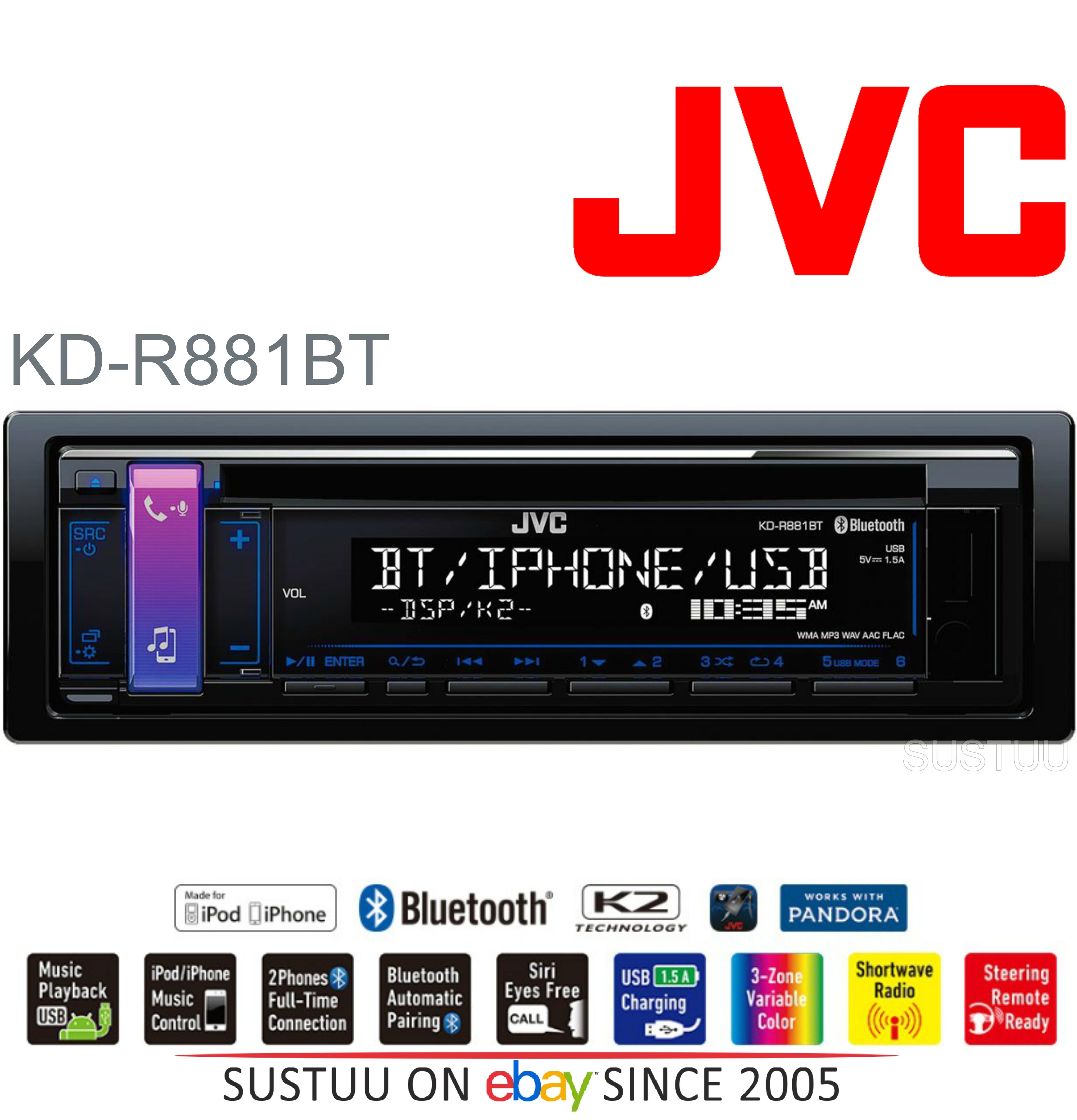 JVC Car Stereo Radio?CD?MP3?WMA?USB?AUX?Bluetooth