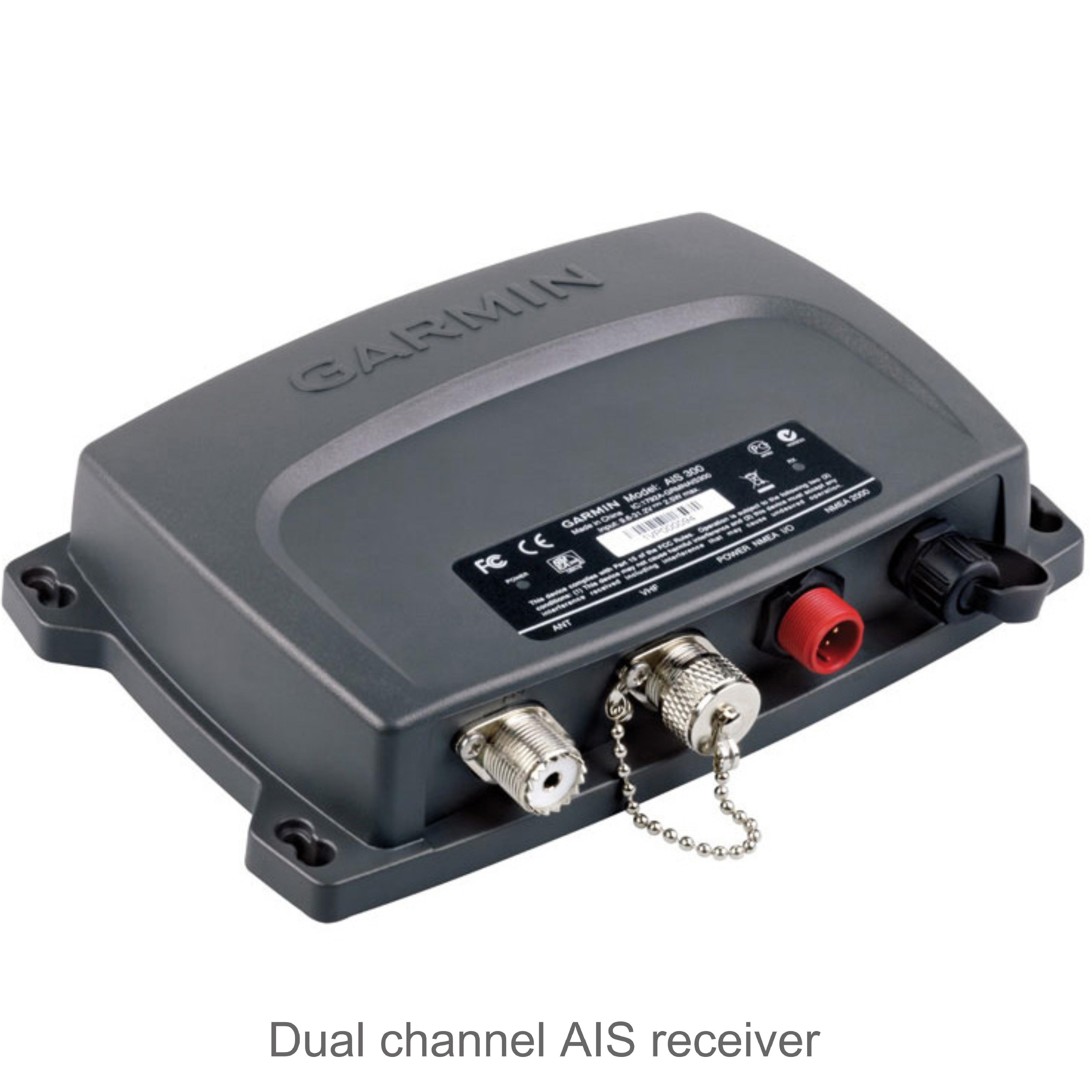 Garmin AIS 300 Class B AIS Receiver | Dual Channel | NMEA 2000 Compatible |  For Marine