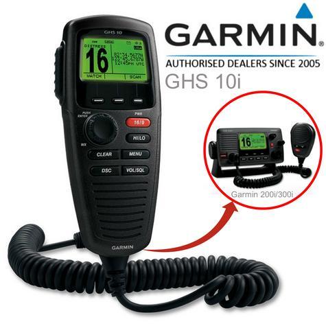 Garmin GHS?10 VHF Wired Mic - Black|LCD Handset|Full Function|DSC|IPX7|For VHF 200i/300i Thumbnail 1