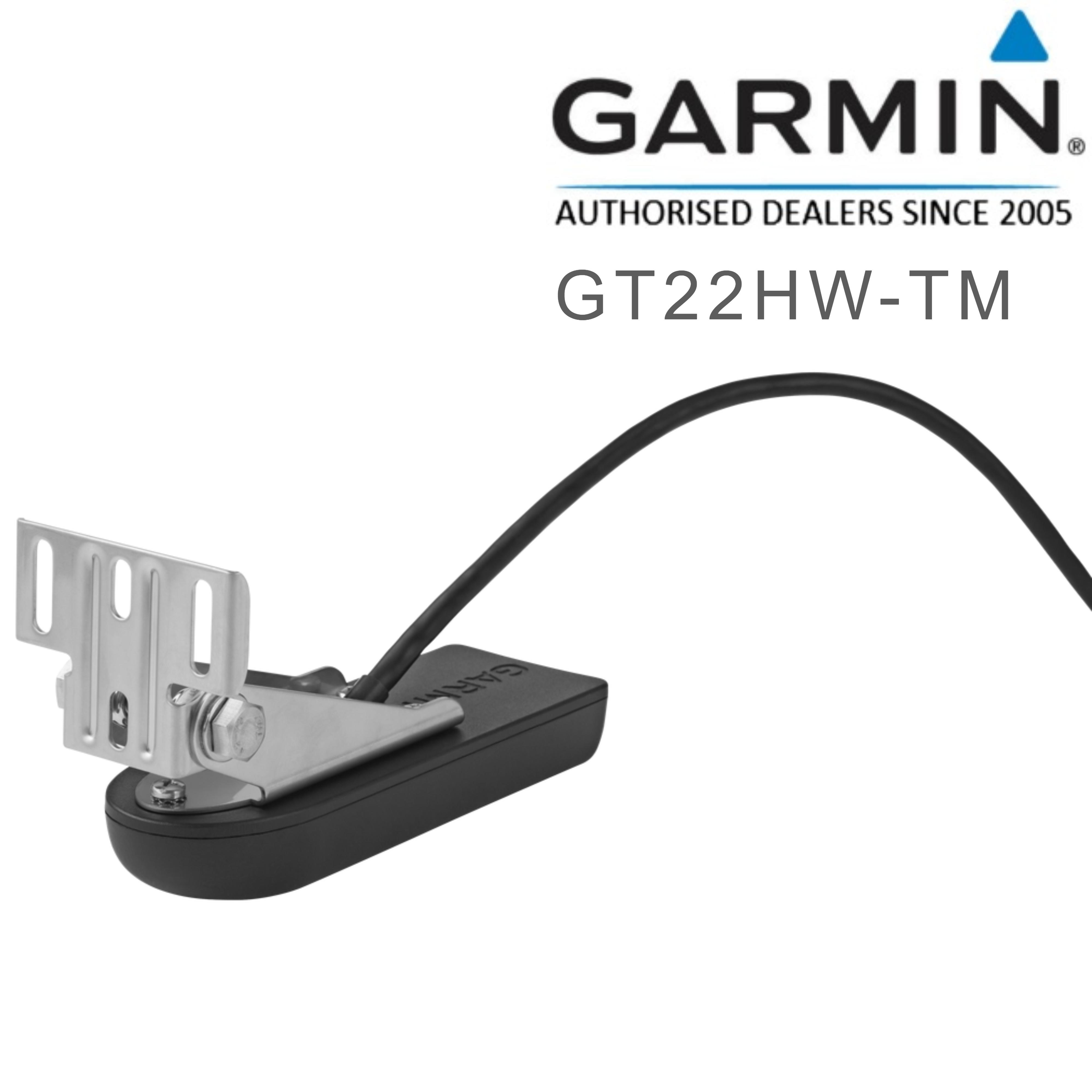 Garmin GT22HW-TM Transom Trolling Plastic Mount Transducer Marine HighDown CHIRP
