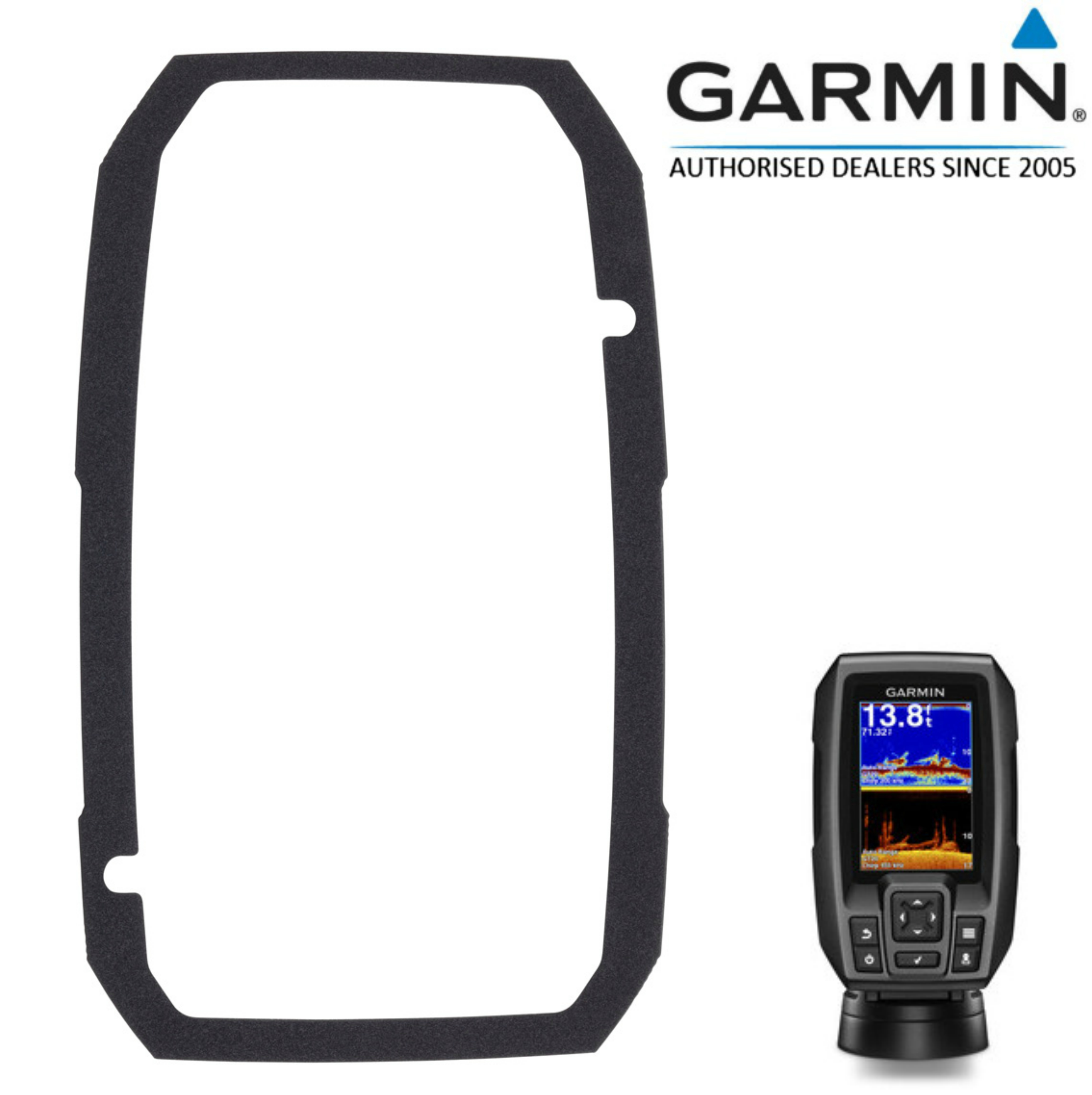 Garmin-0101244000|Flush Mount Kit|Easy Installation|For STRIKER 4/4cv|In Marine