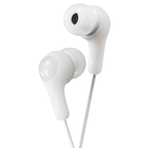 JVC HAFX7W Gumy Plus In Ear Headphones/ 3.5mm Connector/Earbuds/White/New Thumbnail 1