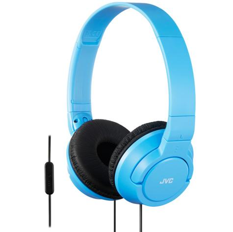 JVC HASR185AN|High Quality Headphone|Powerful Bass|2Way Foldable|Remote|Mic|Blue Thumbnail 1