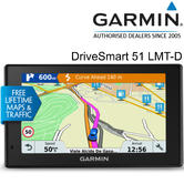"Garmin DriveSmart 51 LMT-D | 5"" GPS SatNav 
