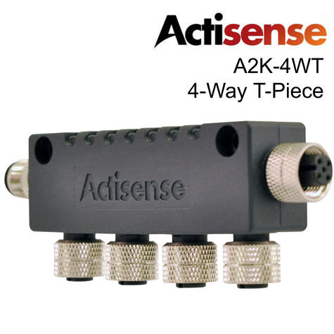 Actisense A2K-4WT 4 Way T Piece?For Multidrop NMEA 2000 Micro T Connector?IP67 Thumbnail 1