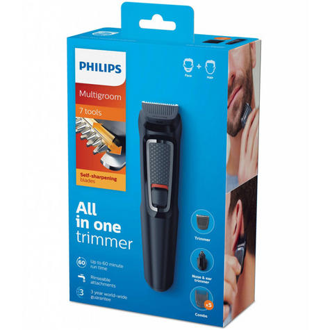 Philips Series 3000?7 in 1?Men's?Hair?Body?Face?Clipper?Trimmer?MultiGroom Kit Thumbnail 4