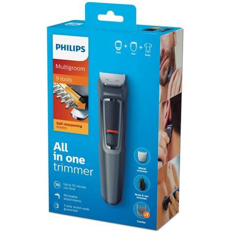 Philips 9 in 1 Men's Multigroomer | Face-Nose-Body-Hair Trimmer Clipper Set | MG3747/13 Thumbnail 7