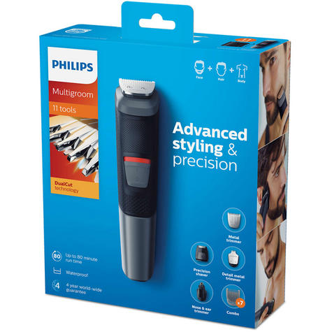 Philips 11 in 1 Multigroom|Face|Nose|Body|Hair|Trimmer Clipper Set|MG5730/13|NEW Thumbnail 5