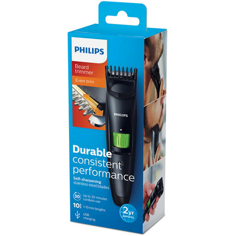 Philips QT3310/13 Mens Beard Trimmer / USB Charging / Clipper / Shaper / Steel Blades Thumbnail 6