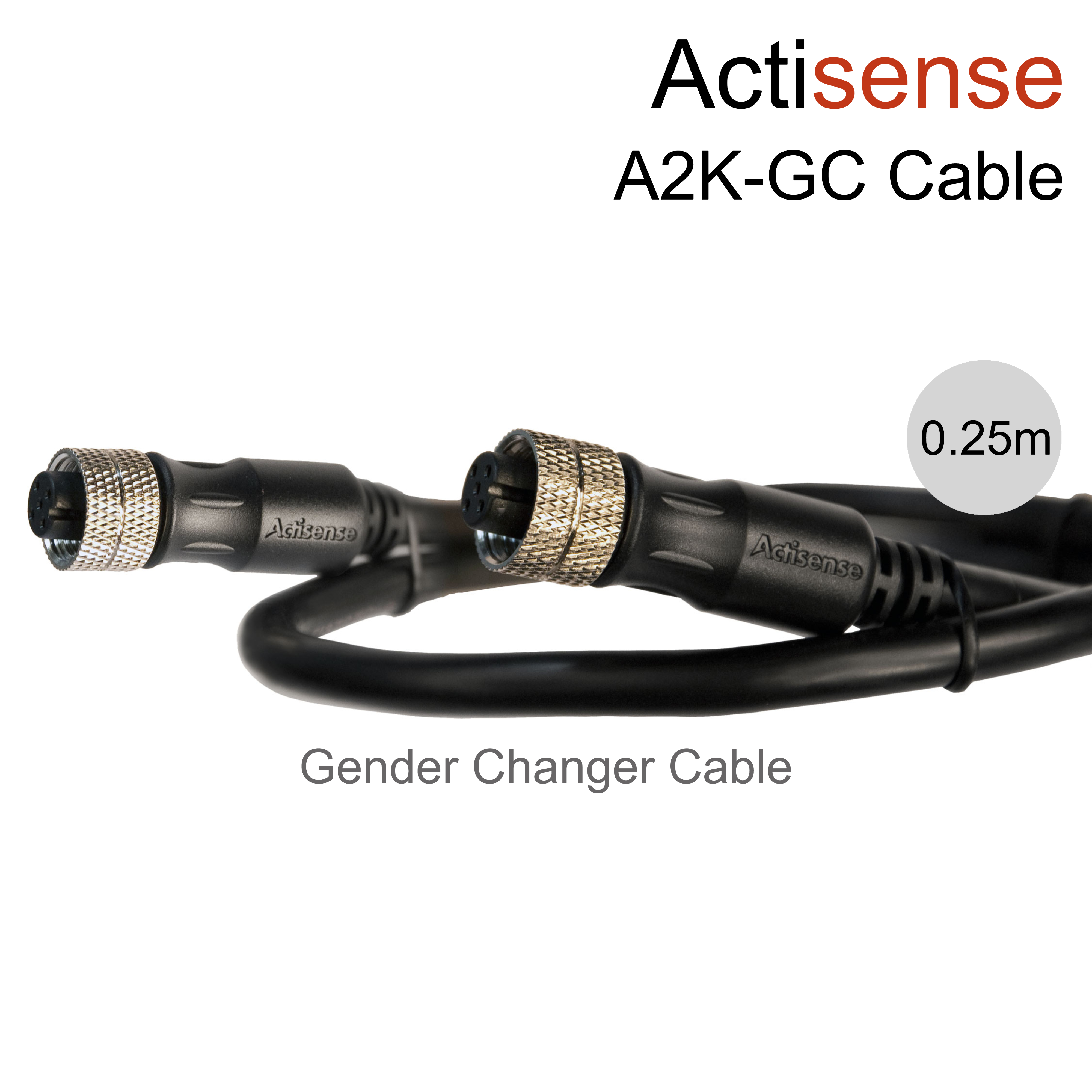 Actisense NMEA 2000 (Micro) Female to Female Gender Changer - 0.25m|UL Certified