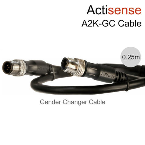 Actisense NMEA 2000 (Micro) Male to Male Gender Changer UL Certified Cable-0.25m Thumbnail 1
