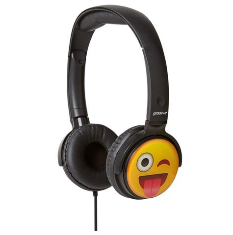 Groov-e GVEMJ11 EarMOJI's Stereo Headphones Ear Cups Headband With Cheeky Face Thumbnail 1