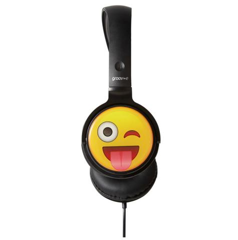 Groov-e GVEMJ11 EarMOJI's Stereo Headphones Ear Cups Headband With Cheeky Face Thumbnail 2