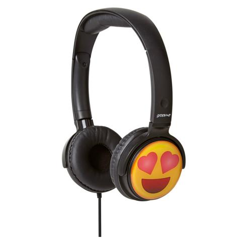 Groov-e GVEMJ13 EarMOJI's Stereo Comfortable Headphones With New Heart Eyes Face Thumbnail 1