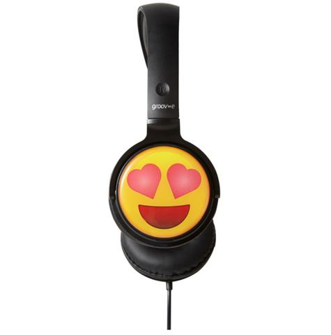 Groov-e GVEMJ13 EarMOJI's Stereo Comfortable Headphones With New Heart Eyes Face Thumbnail 2