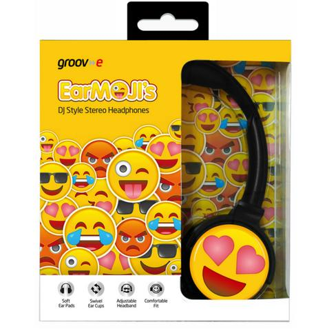 Groov-e GVEMJ13 EarMOJI's Stereo Comfortable Headphones With New Heart Eyes Face Thumbnail 3