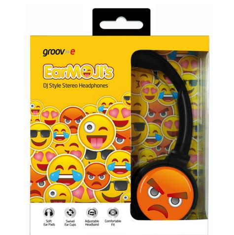 Groov-e GVEMJ16 EarMOJI's Stereo Headphones|Swivel Ear Cups|Angry Face|3.5mm| Thumbnail 4