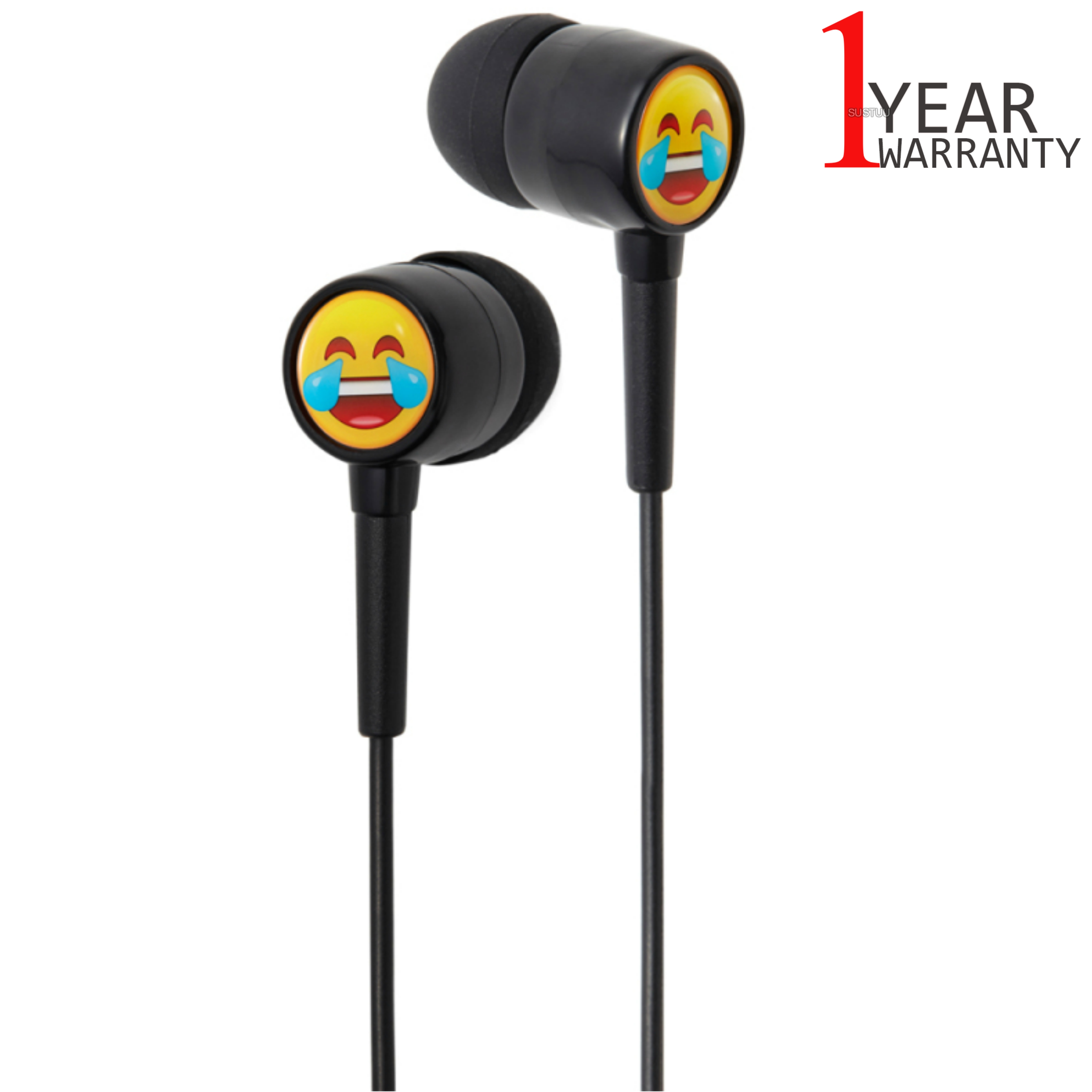 Groov-e GVEMJ22 EarMOJI's Stereo Earphones With Laughing Face/ Spare Earbuds