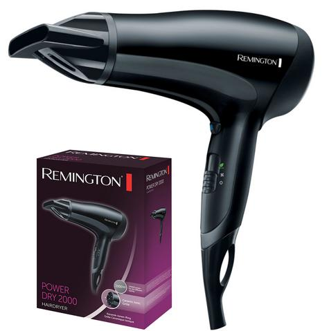 Remington D3010 PowerDry Hairdryer|Ceramic Ionic Grille|2000W|Anti Static|Black| Thumbnail 1
