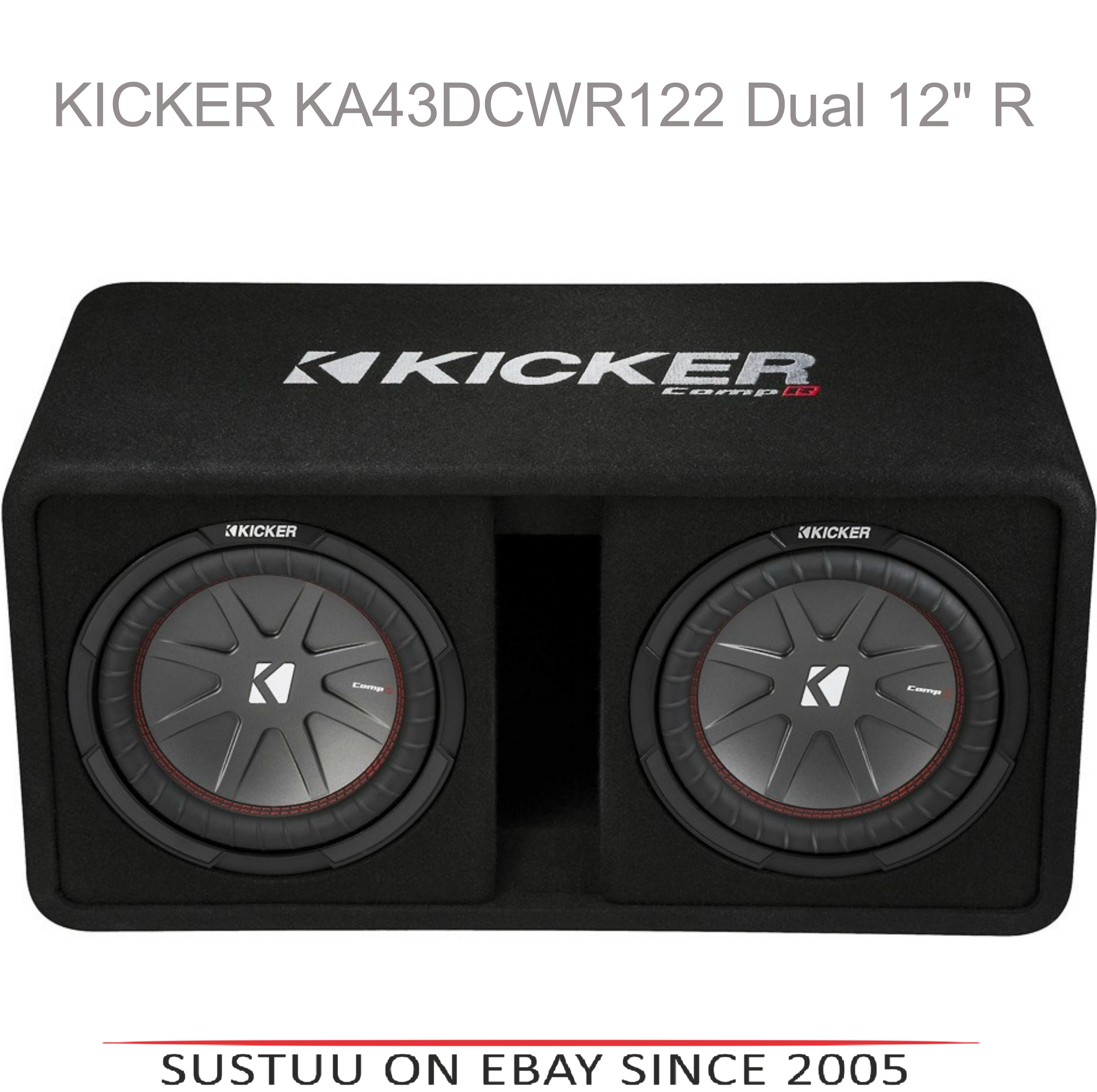 "Kicker KA43DCWR122 12"" Comp R Dual Vented 1000W RMS Car Audio Subwoofer Bass Box"