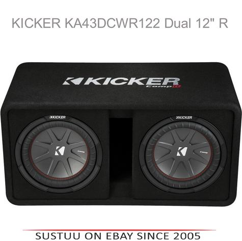 "Kicker KA43DCWR122 12"" Comp R Dual Vented 1000W RMS Car Audio Subwoofer Bass Box Thumbnail 1"