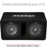 "Kicker KA43DCWR122 12"" Comp R Dual Vented 1000W RMS Car Audio Subwoofer Bass Box"