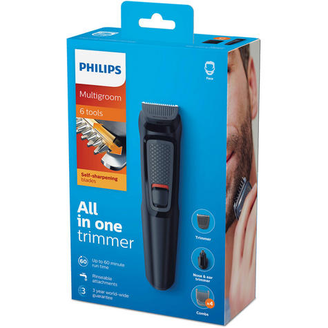 Philips MG3710/13 Multigroom Series 3000 6-In-1 Body Face Clipper Trimmer Kit Thumbnail 4