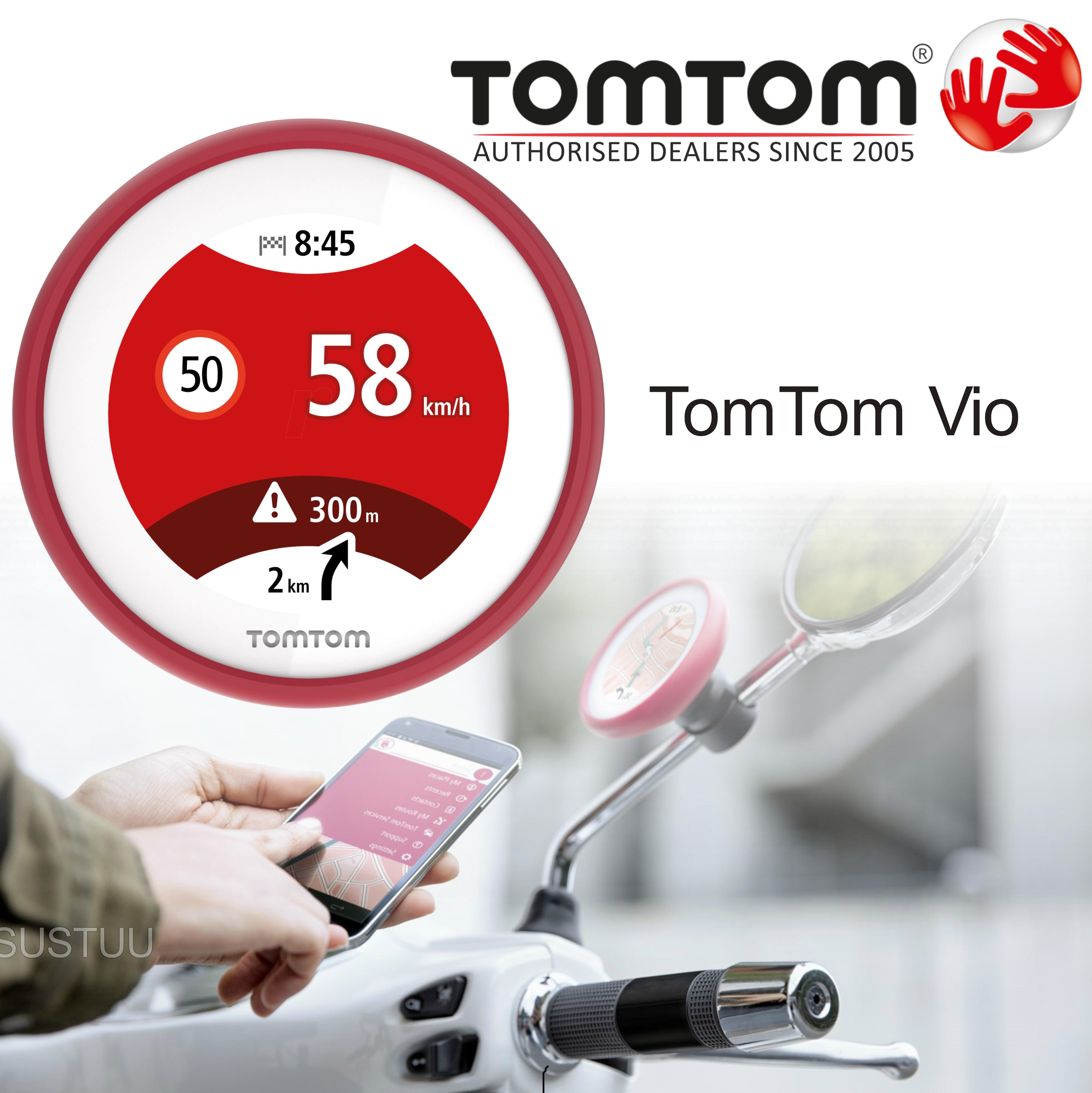 TomTom Vio|Scooter GPS-SatNav|Smartphone Controlled|Waterproof|Lifetime Updates*