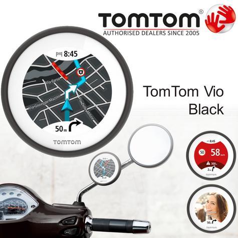 TomTom Vio|Scooter GPS-SatNav|Smartphone Controlled|Waterproof|Lifetime Updates* Thumbnail 2