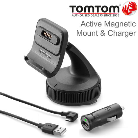 TomTom Active Magnetic Mount & Charger | For GO PROFESSIONAL 520/620/6200/6250 | New Thumbnail 1