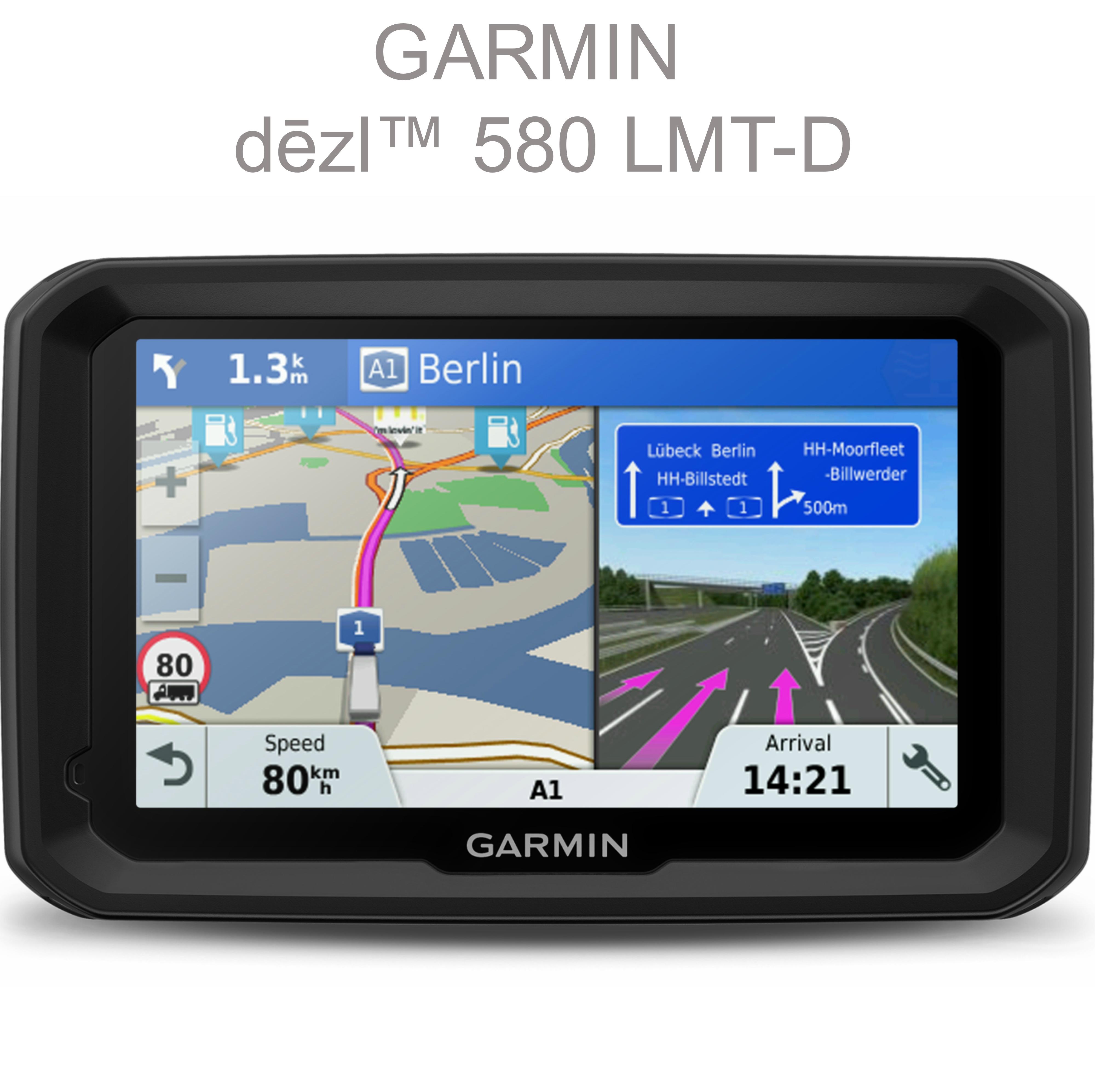 """NEW Garmin 010-01858-13 TFT 5"""" Display Dezl 580 LMT-D Truck GPS SATNAV Navigator"""