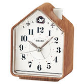 Seiko QHP005A Bedside Beep Alarm / 2 Bird Songs Clock / Bedroom / Wood Pattern