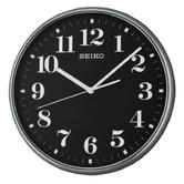 Seiko QXA697KQuiet Sweep Second Hand Arabic Wall Clock-Grey Case With Black Face