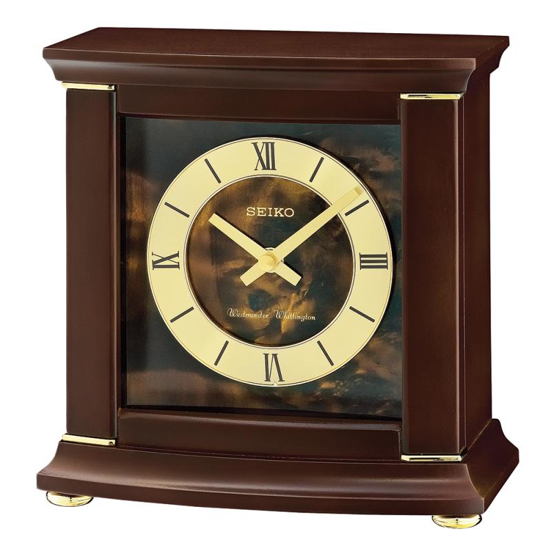 Seiko QXJ030B Analogue Mantel Clock / Westminster/Whittington Chimes / Roman Numeral