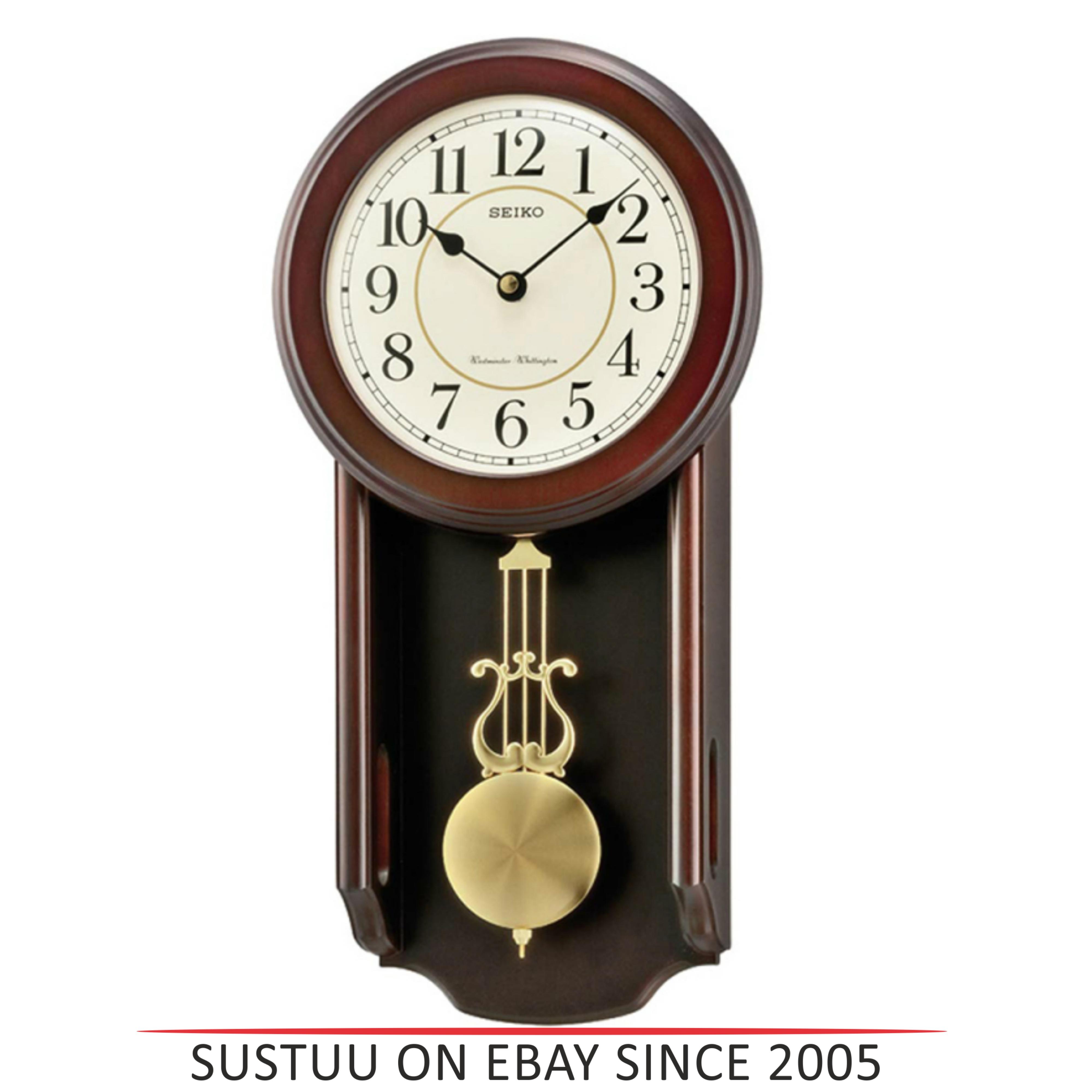Woodenseiko qxh063b analogue pendulum wall clock westminster seiko qxh063b analogue pendulum wall clock westminster whittington chimes wooden amipublicfo Image collections
