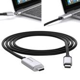 Griffin GC42251 BreakSafe Magnetic USB Type-C|1.8M Power Cable|6 Ft|Black/Silver